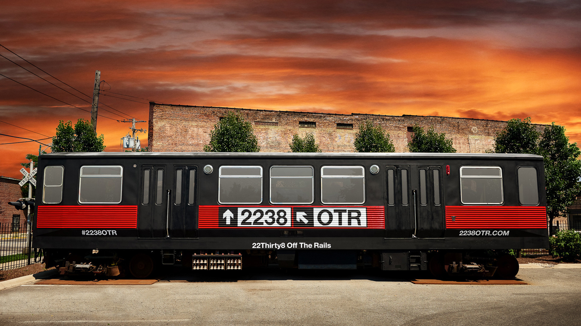 2238 Off The Rails Custom-designed Branded CTA Train Car