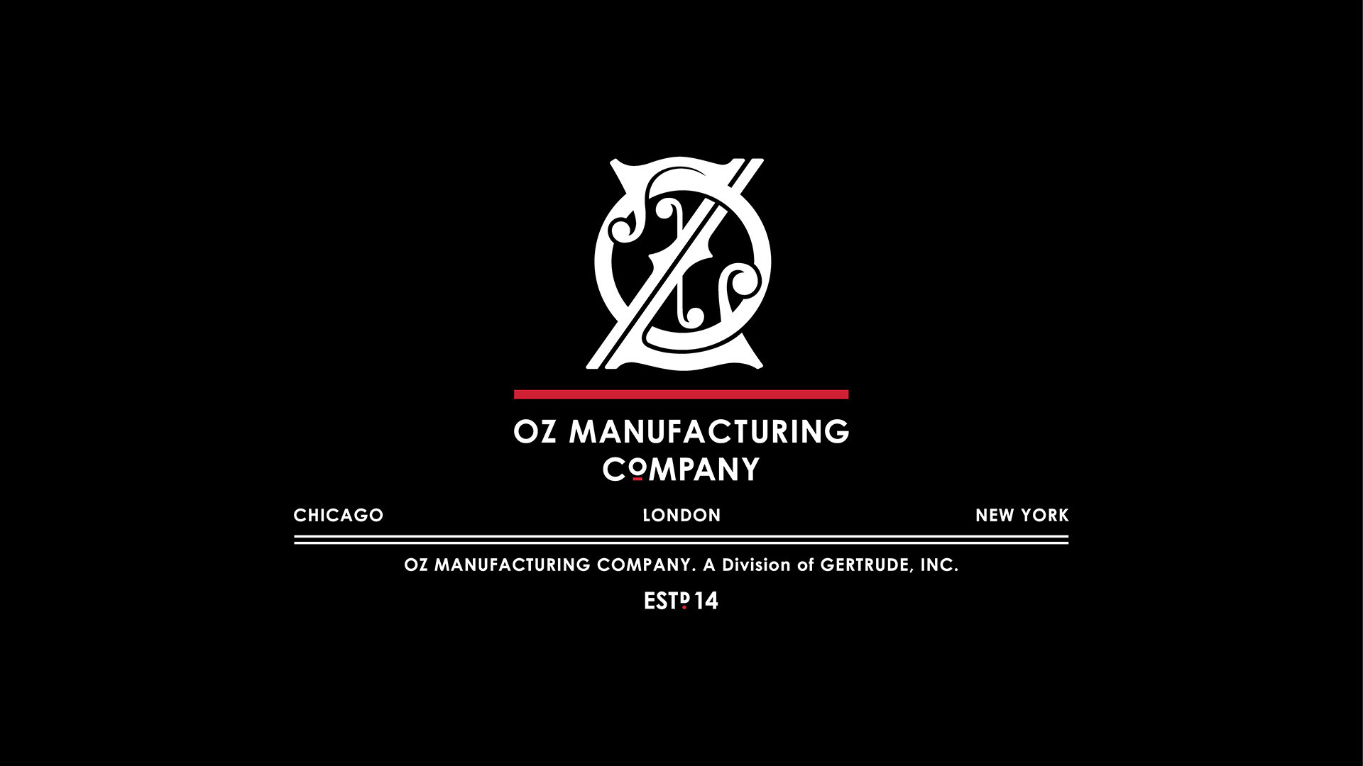 Oz Mfg. Company Master Logo Design on Black Background 01