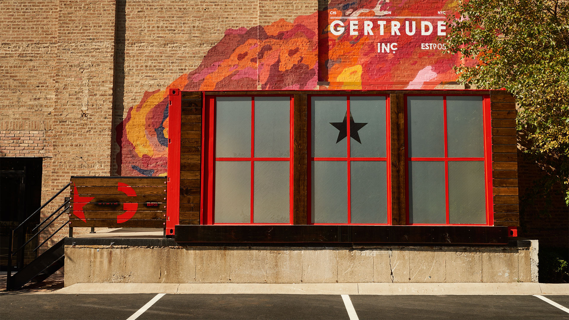 Gertrude Oz Shipping Container Entrance Exterior Front View