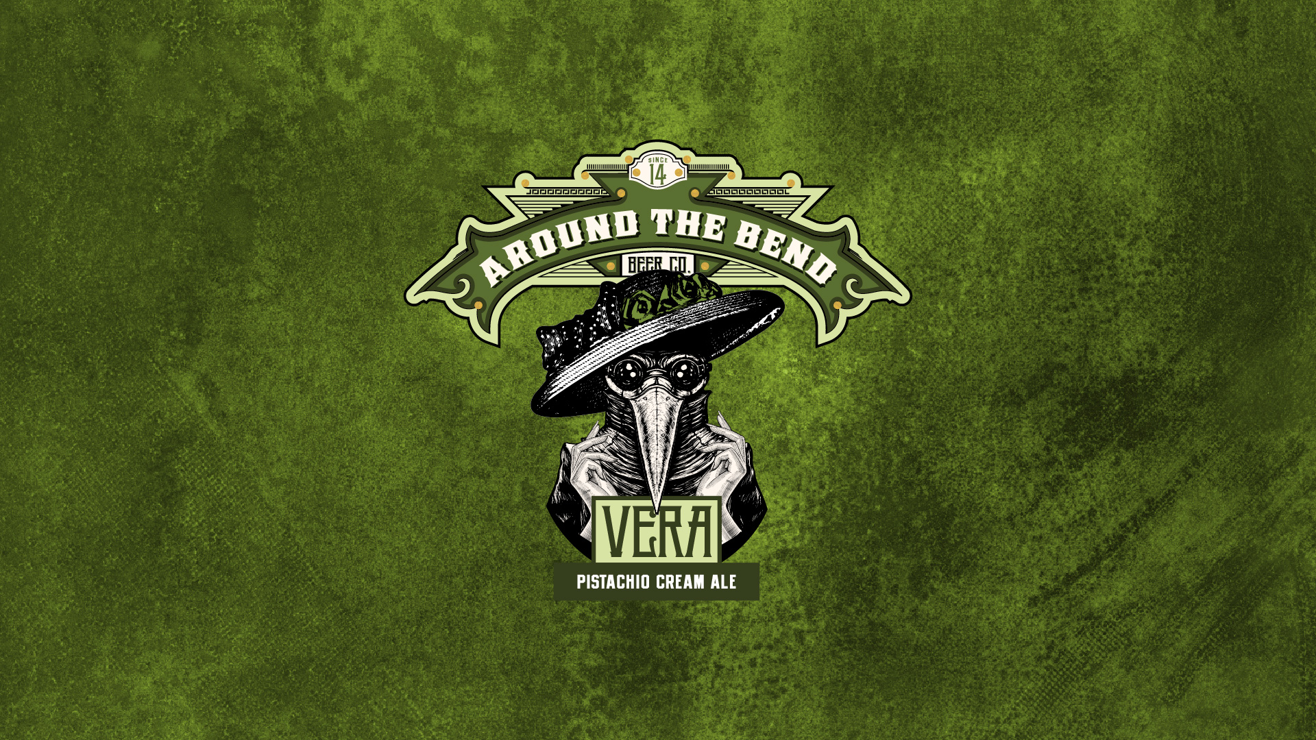 Oz Mfg. Company Around The Bend Beer Co. Vera Pistachio Cream Ale Branding