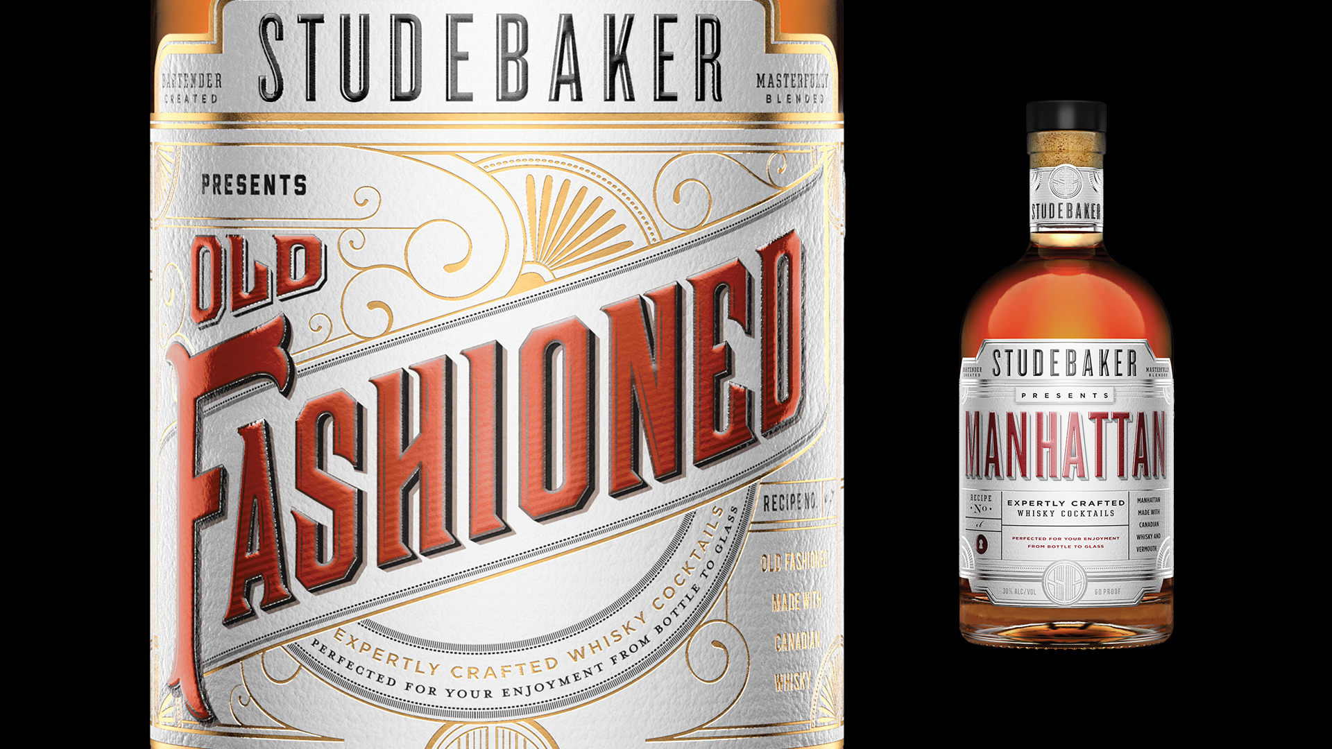 Studebaker Whisky Cocktails Old Fashioned Bottle Render